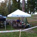 Team tent at Silver Lake